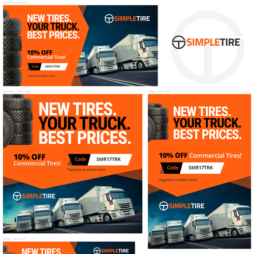 Advertising campaign for the tire dealer