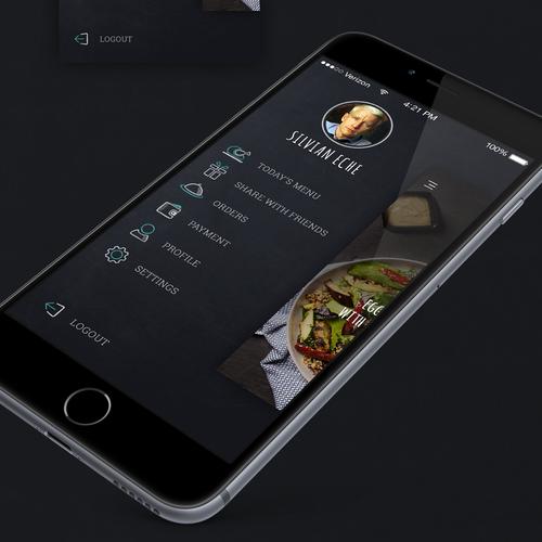 Dish ordering app