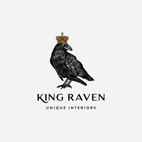 """Logo consept for """"King Raven"""""""