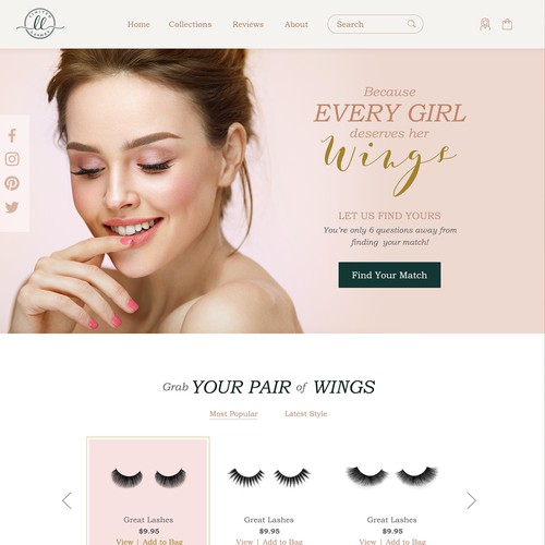 Design a website for lashes