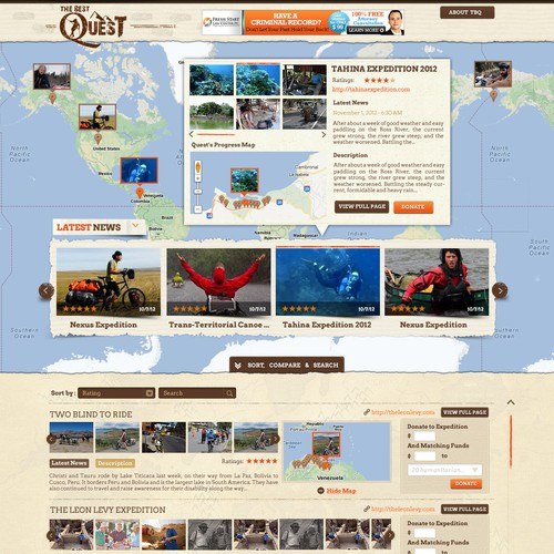 The Best Quest: The web's most exciting site needs an awesome design!