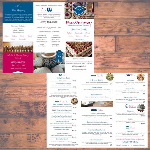 Menu Design for Bonpastry Gourmet Cuisine and Desserts