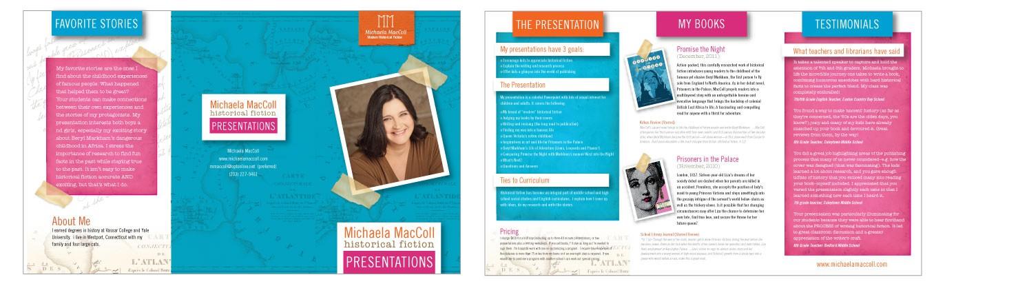 Brochure Design for KidLit Speaker