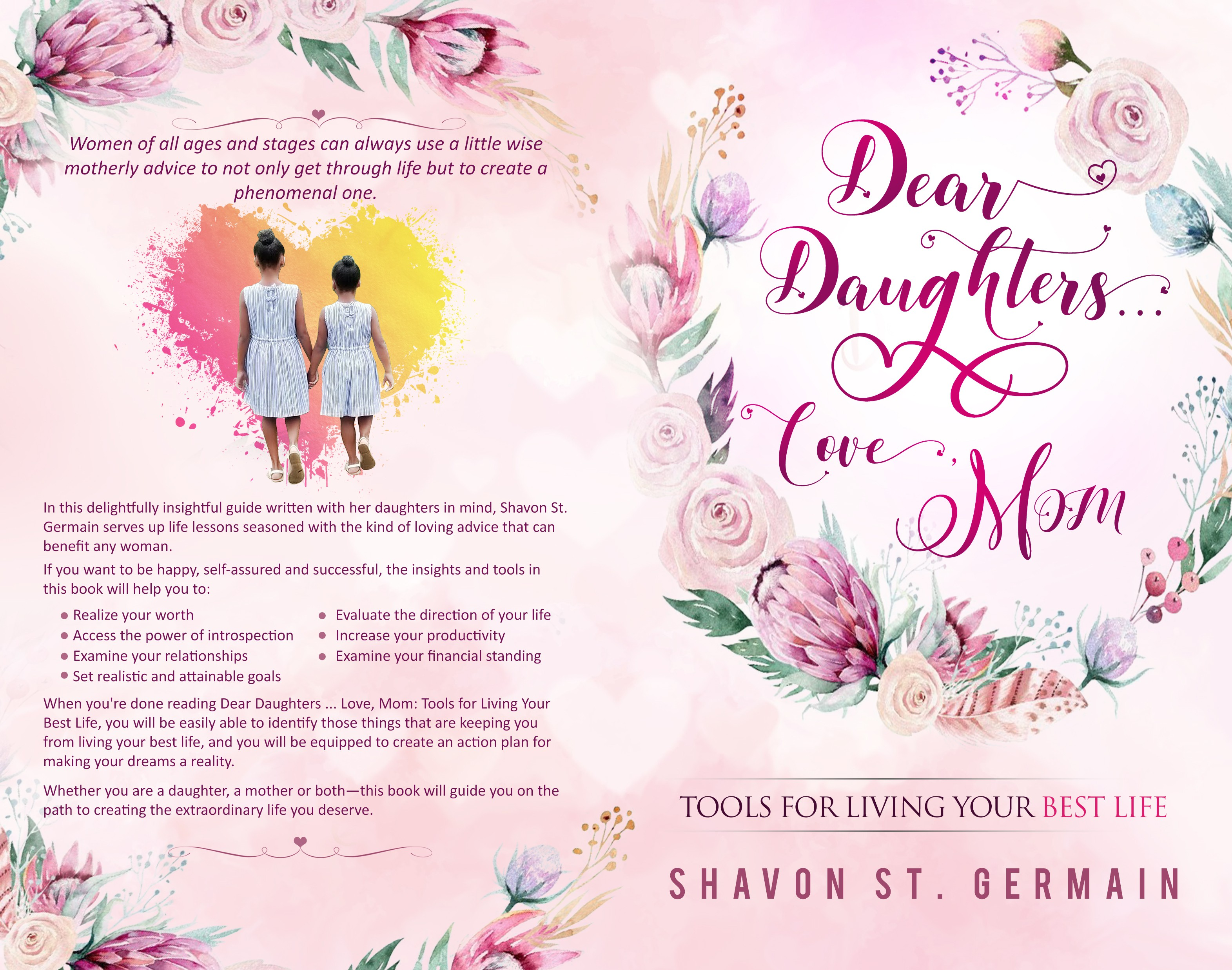 Design a book cover for a mother-to-daughter self-help book
