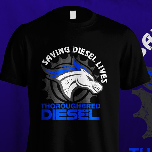 T shirt For Thoroughbred Diesel