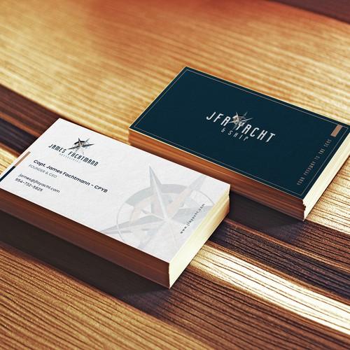 Luxury Yacht Brokerage Business Card Design