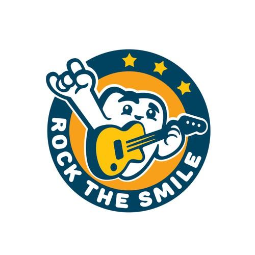 Rock the smile logo