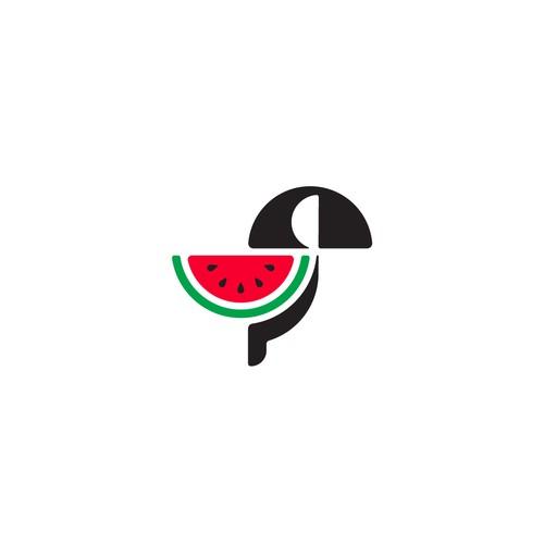 a bird watermelon