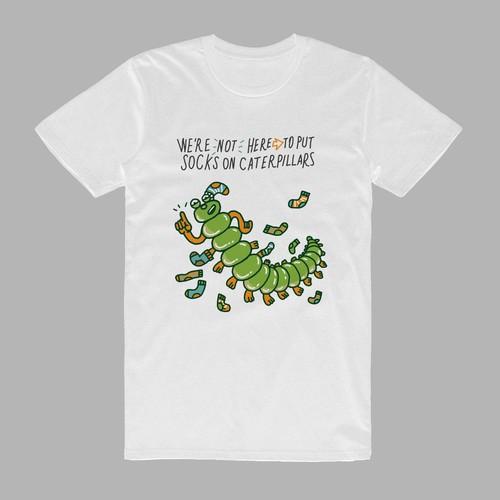 Caterpillars tshirt design