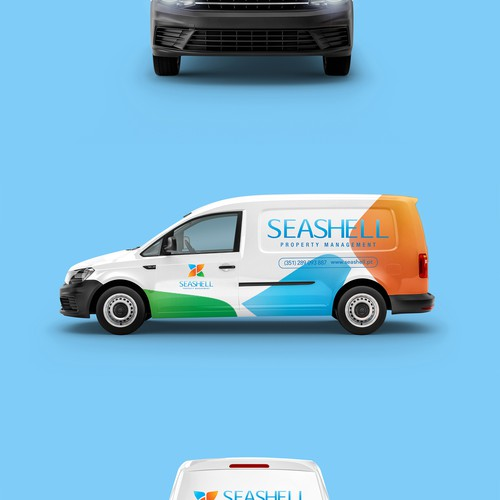 Seashell Car Wrap Design