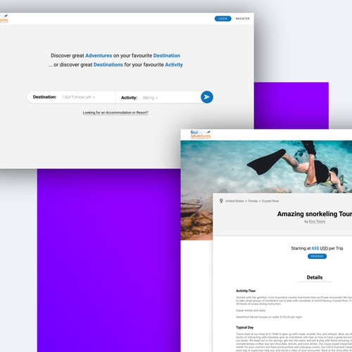 Concept for a travel company