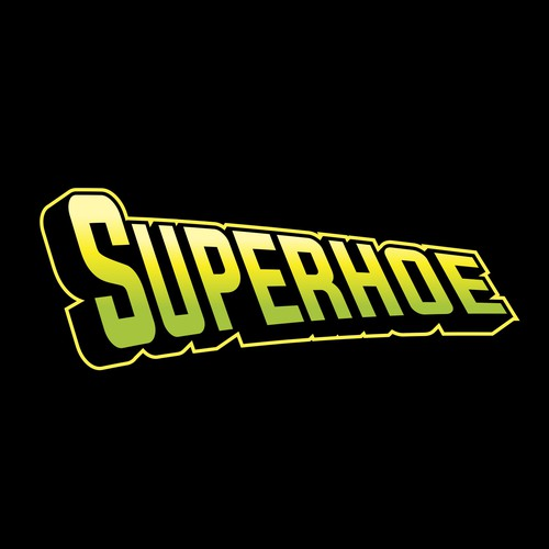 Comic Style logo for Superhoe