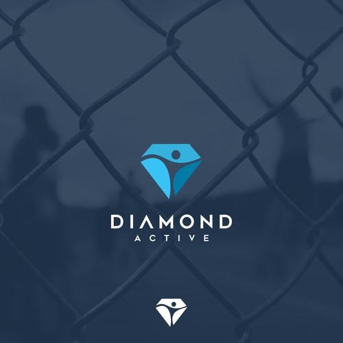 logo concept for diamond active