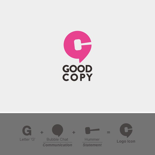 Logo for copy writer merchandise brand