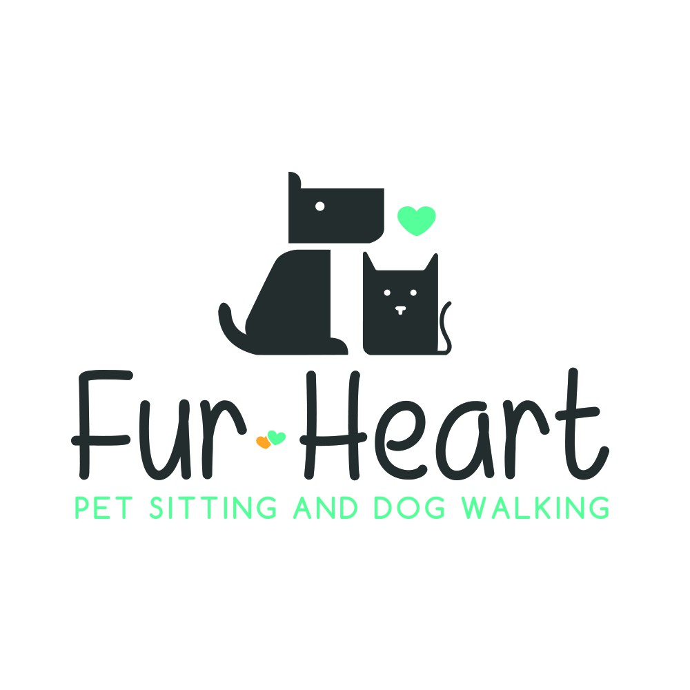 "I need a new logo! ""Fur Heart Pet Sitting and Dog Walking"""
