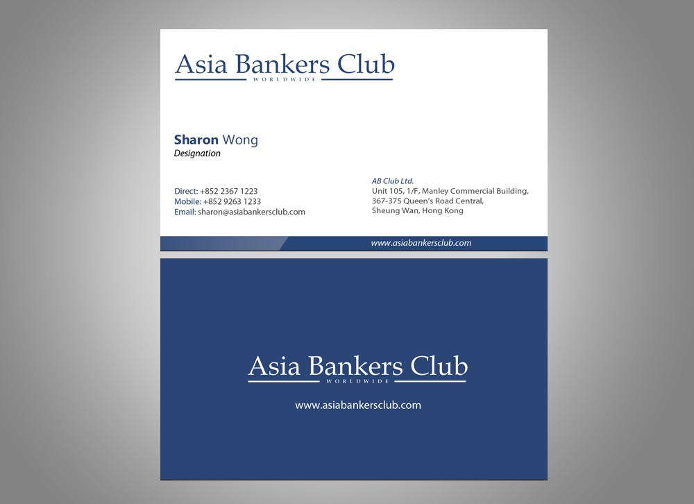 Create the next stationery for Asia Bankers Club
