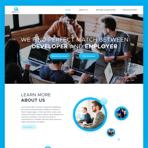 Bold and modern concept for recruiting website