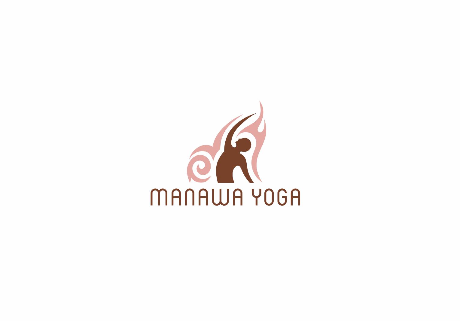 Yoga retreat logo with tribal style