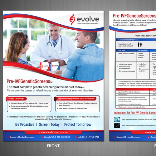 Design a great genetic screen promotional package ad