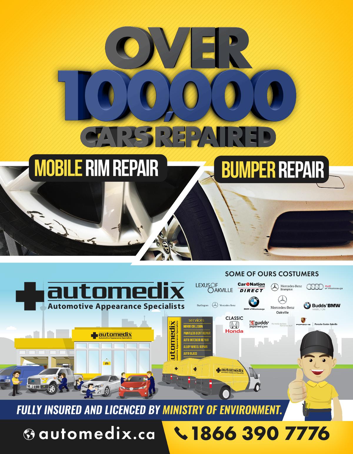 Mobile Rim and Bumper Repair Flyer