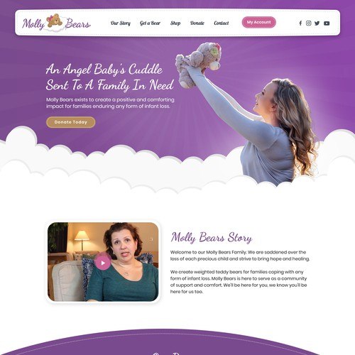 Molly Bears Web Page Design