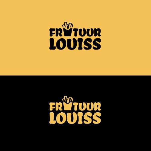 Frituur Louiss (Trendy fries shop logo)