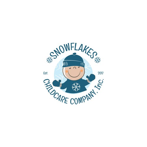 a creative brand for Snowflakes Childcare