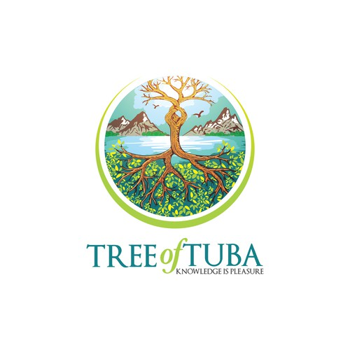 Illustrative logo for a spiritual e-learning company
