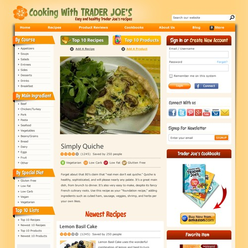 Cooking with Trader Joe's Design