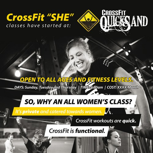 Flyer design for a crossfit class