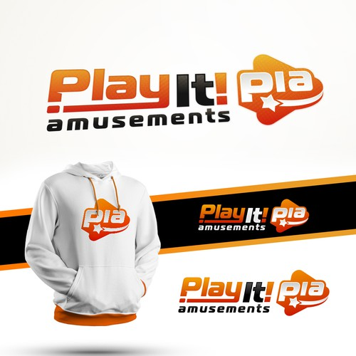 Play It! Amusements Logo Design