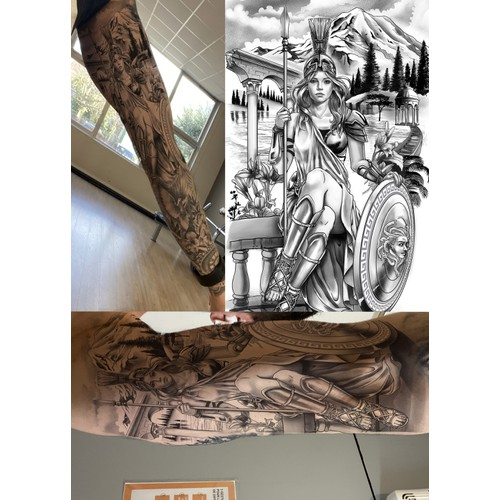 Athena for last part of sleeve tattoo