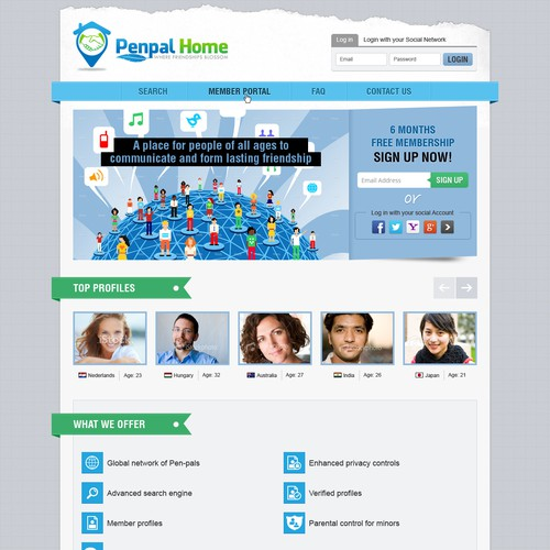 Penpal Home needs a new website design