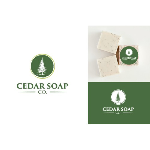 Create a unique and powerfully simple and memorable image for Cedar Soap Co.