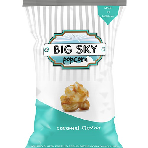 Create a classy & exciting logo for Big Sky Popcorn!