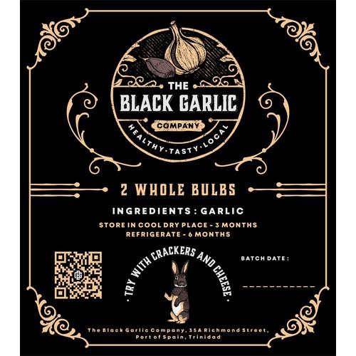 Label Design for The Black Garlic Co.