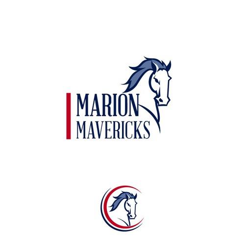 Marion Mavericks Elementary School Logo