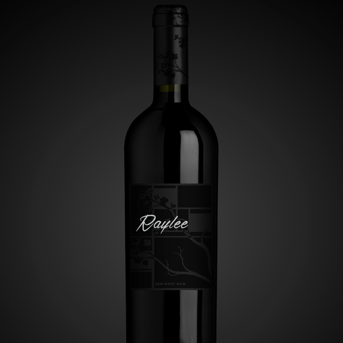 Create an elegant and modern wine label for high end Pinot Noir