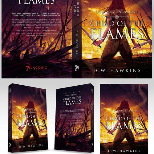 """entry for book cover contest """"CHILD OF THE FLAMES"""""""