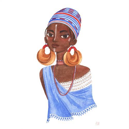 Fulani Tribe Woman