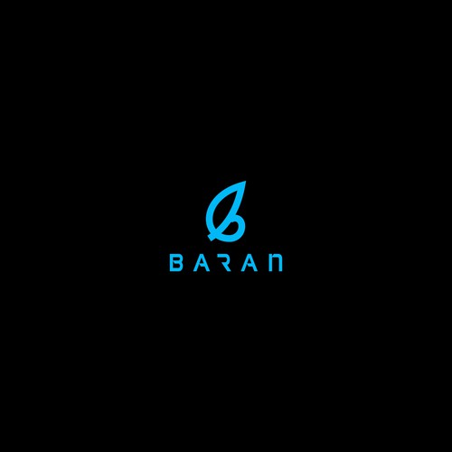 Simple logo design for baran