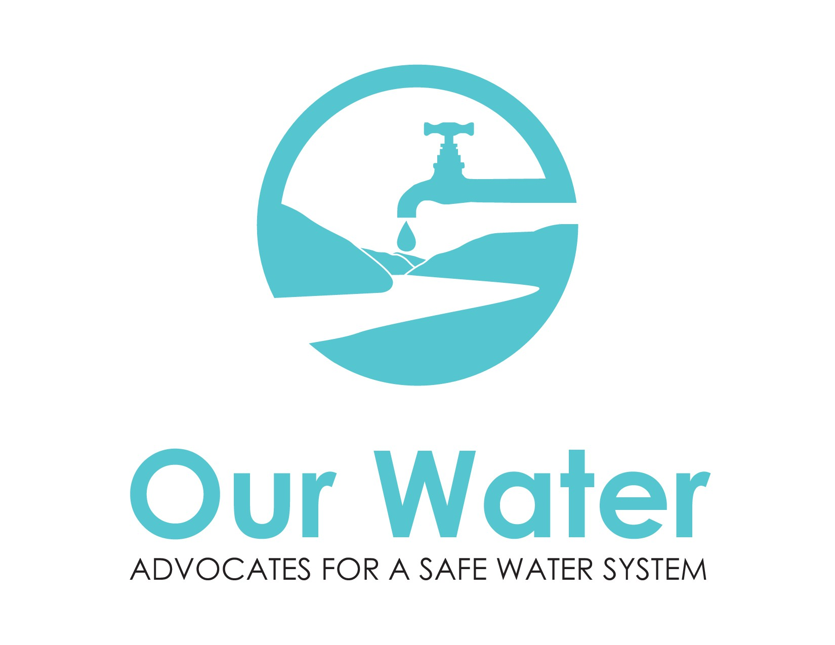 Create a powerful logo for our community's campaign for a public water system!