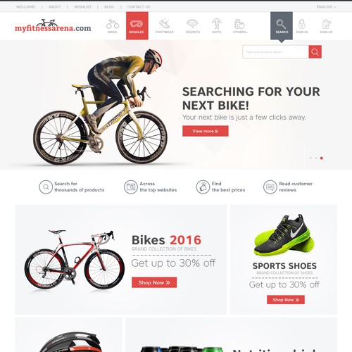 Clean design for sports comparison website