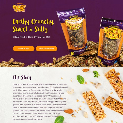 Granola Munch Web design concept