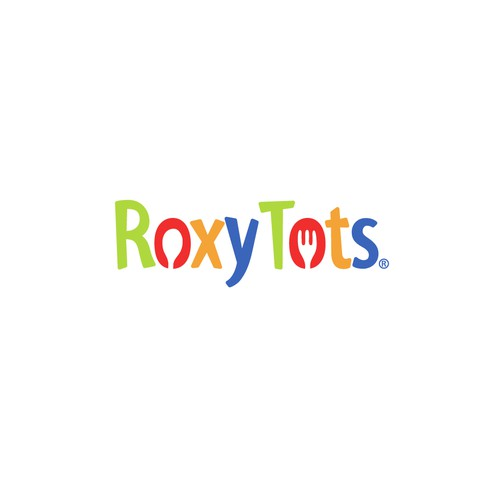 Bold logo for Roxy Tots