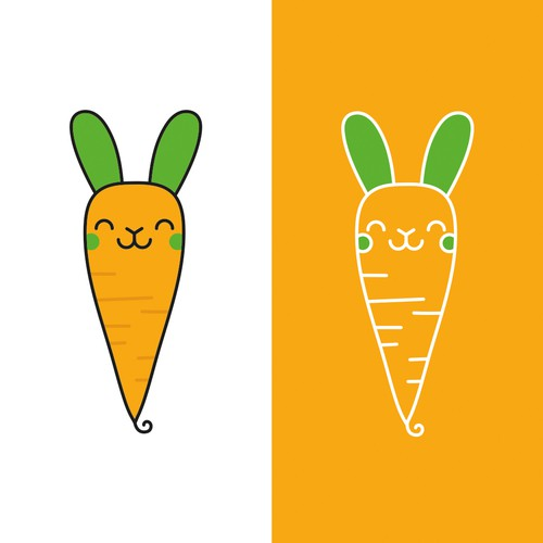 Carrot bunny character design