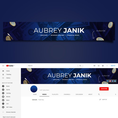 Personal Finance/Business YouTube Channel Art