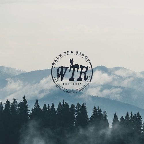 Walk the Ridge logo concept