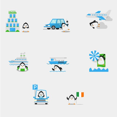 Webpage icons for comparetravel.ie