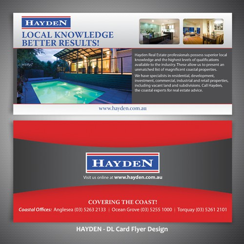 New print or packaging design wanted for Hayden Real Estate